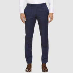 a front view of the studio italia classic fit icon T81 trouser in navy blue wool ST-479-11