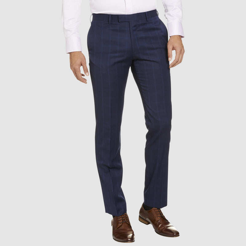 Studio Italia classic icon fit T81 trouser in blue pure wool