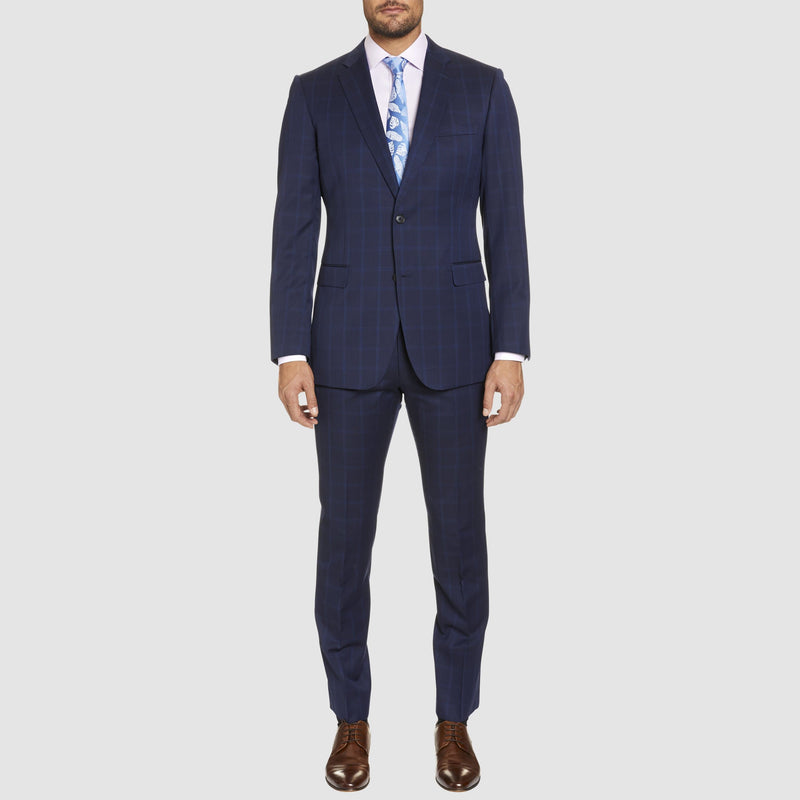 the icon fit T81 trouser as part of the studio italia classic fit momento suit in navy blue wool ST-479-11