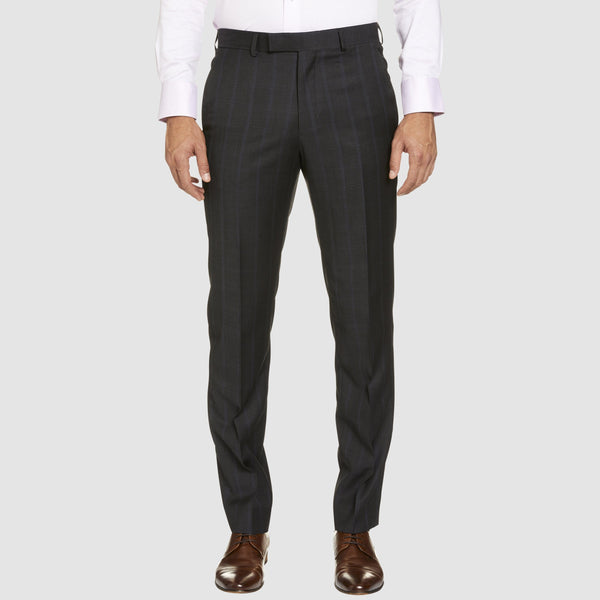 a front view of the T81 classic fit studio italia business trouser in grey wool ST-479-21