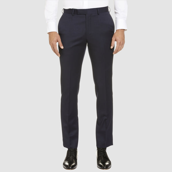 a front view of the studio italia classic fit T81 icon trouser in navy wool blend ST-470-11