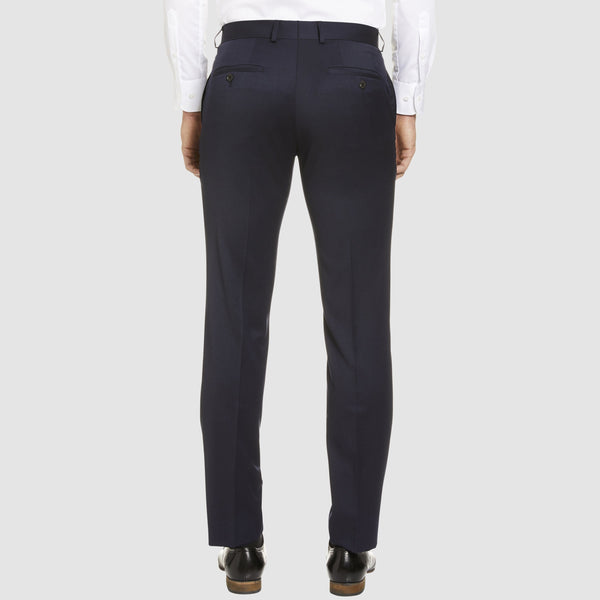 a back view of the studio italia classic fit T81 icon trouser in navy wool blend ST-470-11