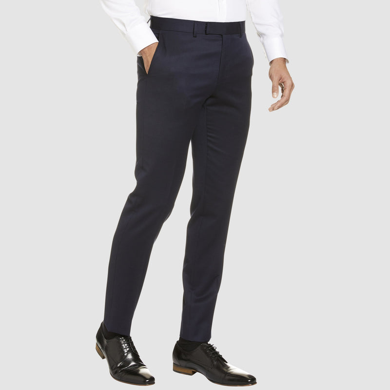 Studio Italia classic fit icon T81 trouser in navy wool blend - Big Man Sizes