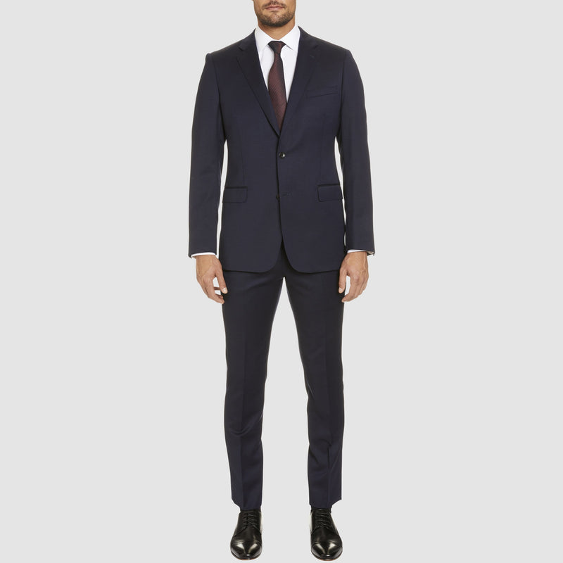 a full length view of the george suit, with the T81 icon trouser in navy wool blend ST-470-11