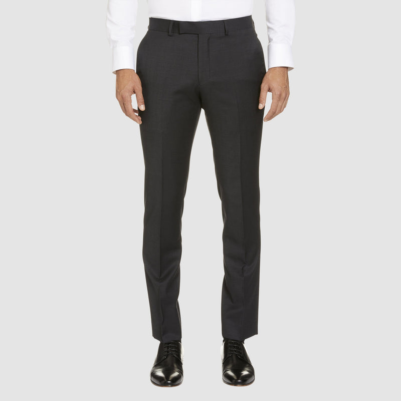 a front view of the studio italia classic fit T81 trouser in charcoal wool blend