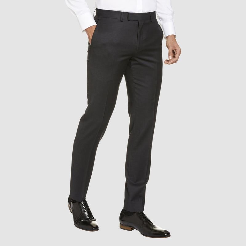 Studio Italia classic fit icon T81 trouser in charcoal wool blend