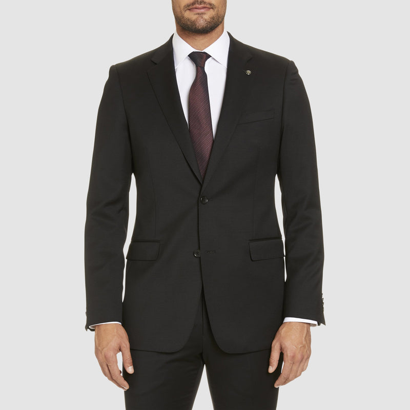 Studio Italia classic fit icon george suit in black wool blend - Big Man Sizes