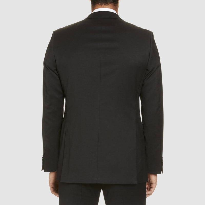 Studio Italia classic fit icon george suit in black wool blend