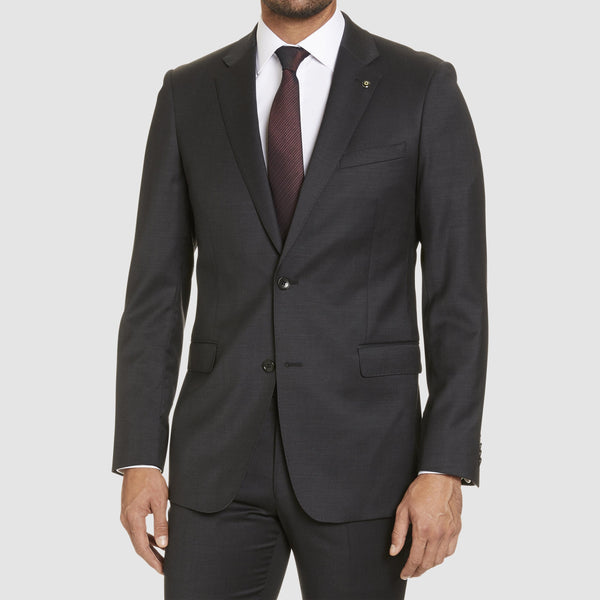 studio italia classic fit icon george suit jacket in charcoal wool blend  ST-470-21