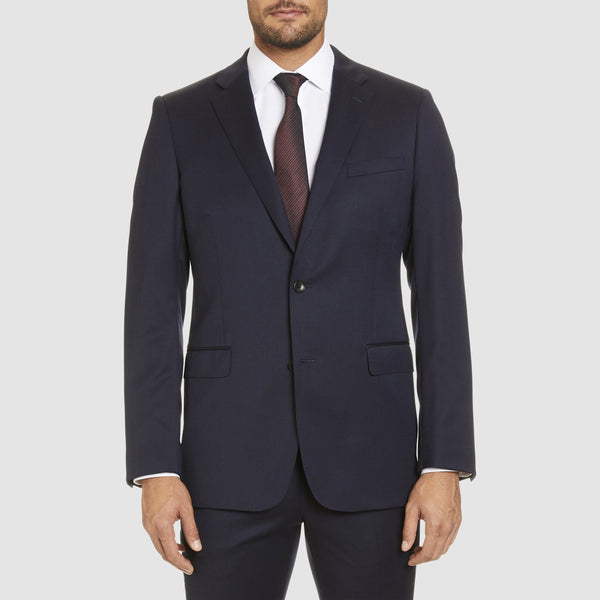 studio italia classic fit icon george suit jacket in navy wool blend ST470-11
