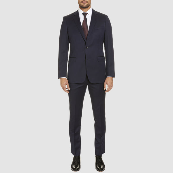 a full length view of the studio italia classic fit icon george suit in navy wool blend  ST-470-11