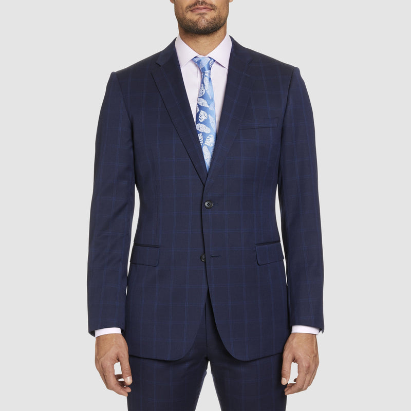 studio italia classic icon fit momento suit in blue pure wool ST-479-11
