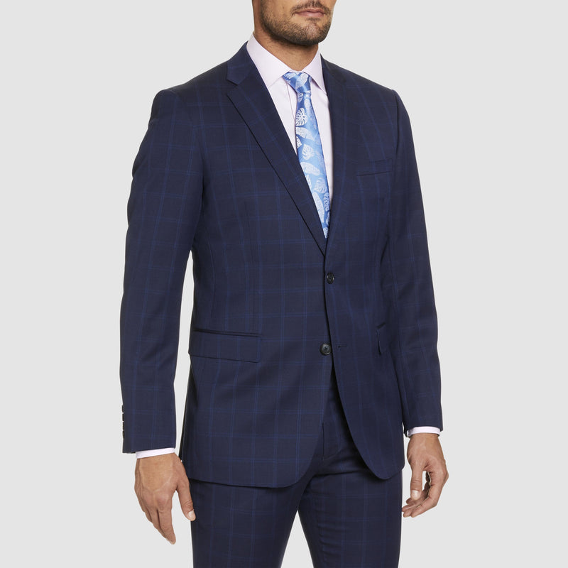 Studio Italia classic fit momento suit in blue pure wool