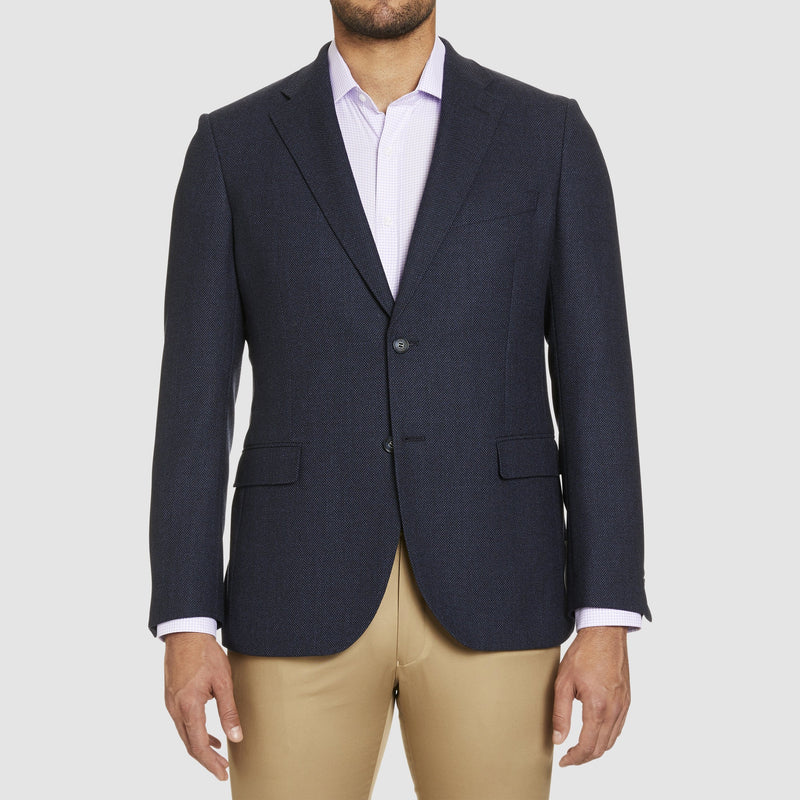 a front view of the studio italia noah sports jacket n navy australian wool ST-414-11