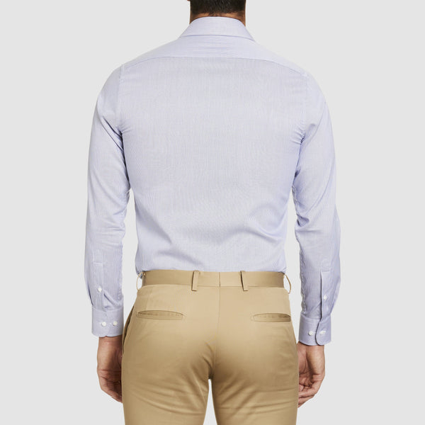 back of the conran business shirt in grey by studio italia st-12