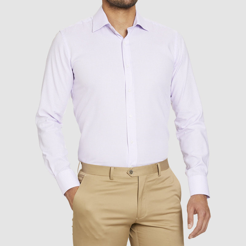 Studio Italia slim fit conran business shirt in pink pure cotton