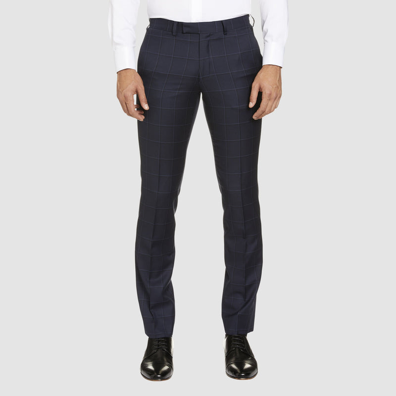studio italia slim fit florence trouser in navy pure wool ST-465-11
