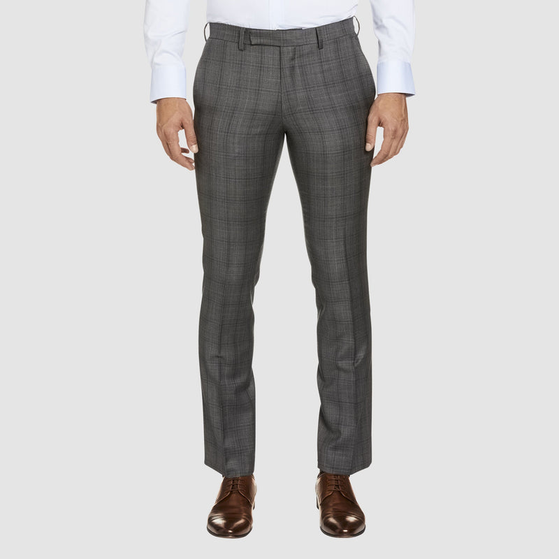studio italia slim fit florence T85 trouser in grey pure wool ST-321-21