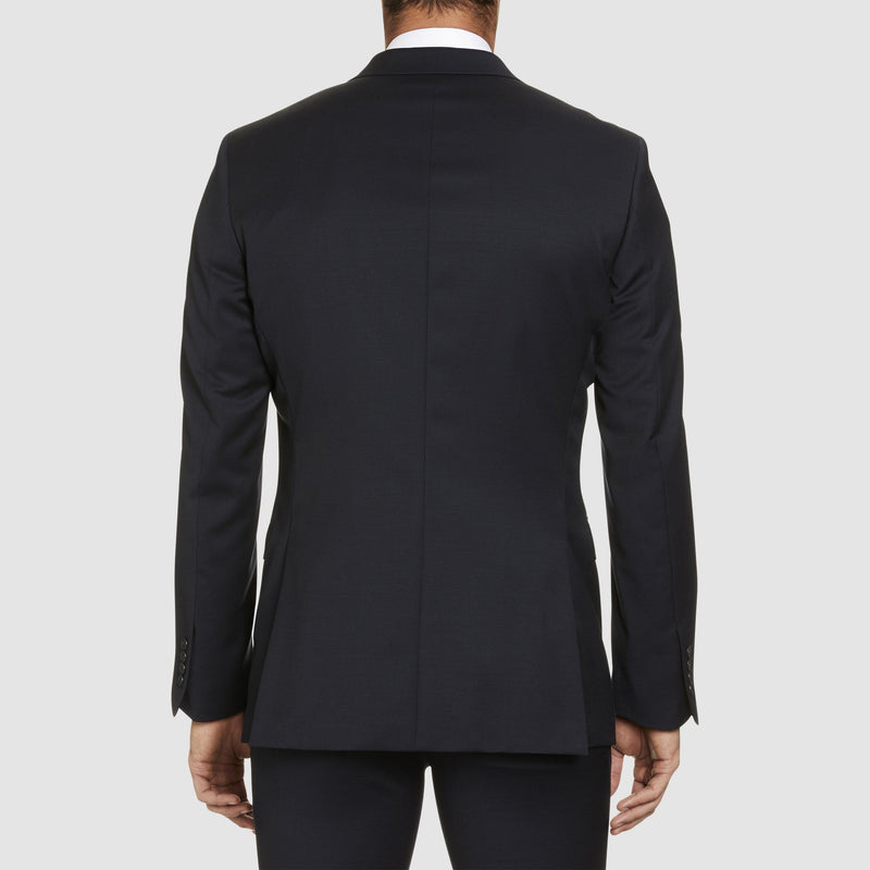 a back view of a front view of the studio italia slim fit lugano suit in navy pure wool ST-362-11