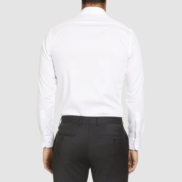back view of the studio italia slim fit spencer business shirt  ST-01 single cuff