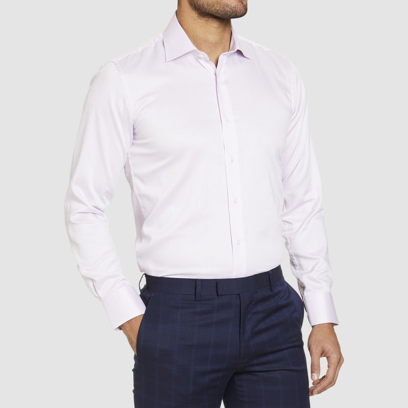 Studio Italia slim fit spencer shirt in pink pure cotton ST-02