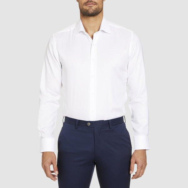 studio italia slim fit spencer business shirt in white cotton  ST-21-WHITE