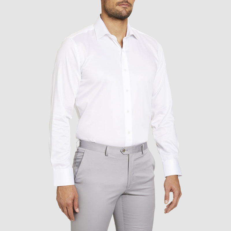 Studio Italia slim fit spencer shirt in white pure cotton ST-02