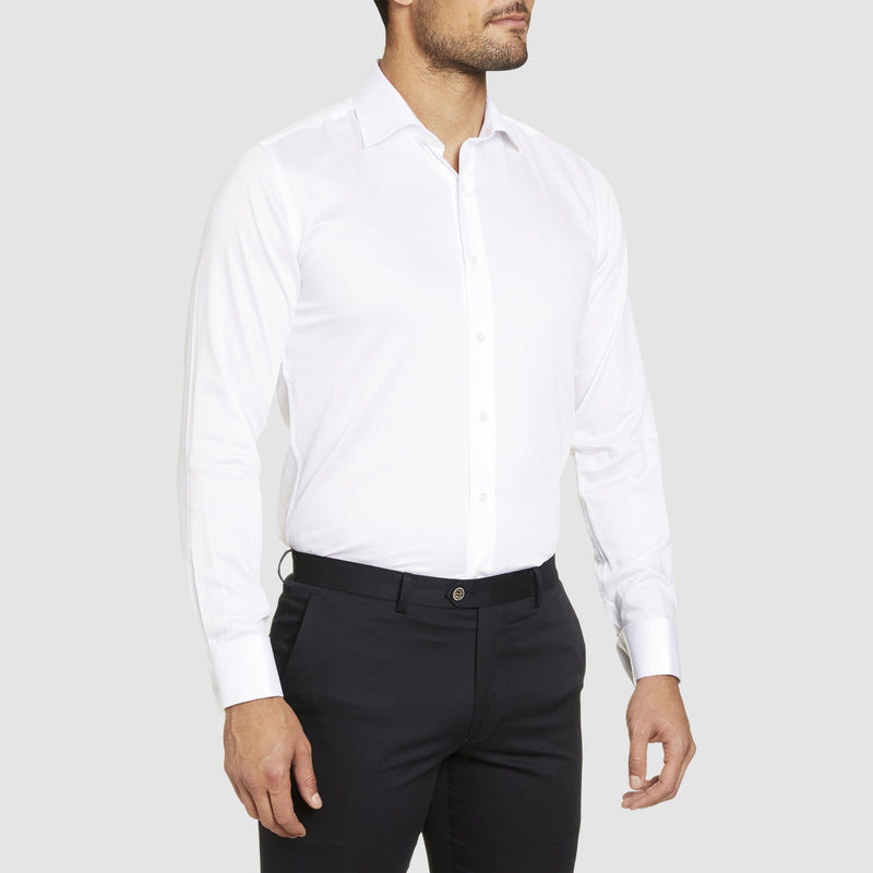 Studio Italia slim fit bogart shirt in white pure cotton ST-02