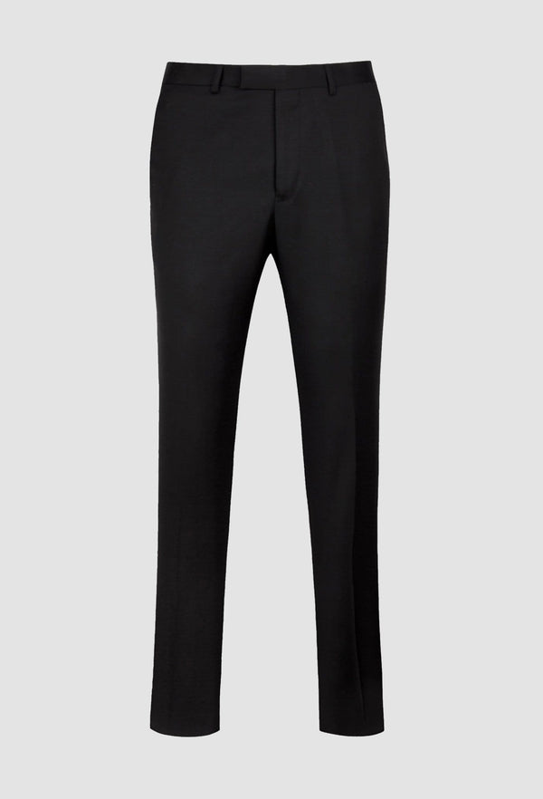 a full length view of the ted baker slim fit twilite suit trouser in black pure wool