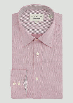 Ted Baker slim fit endurance business shirt in pink
