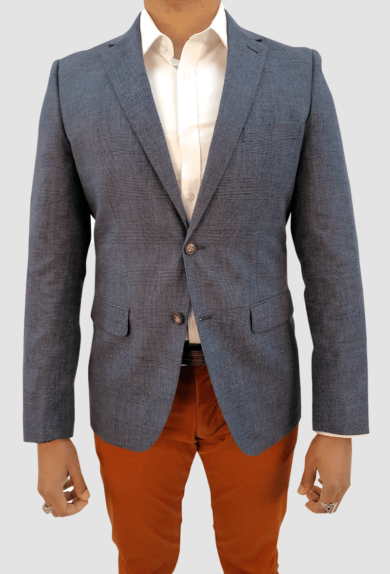 The Miller Linen Sports Jacket by Aston Man Product Code A040143 Blue