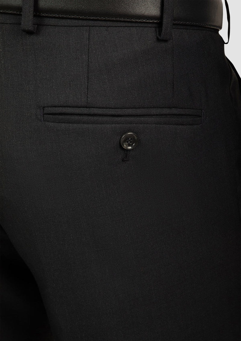 Cambridge classic fit interceptor trouser in charcoal pure wool FCI417