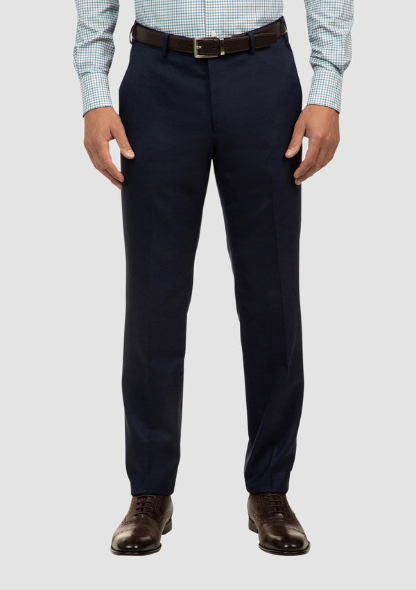 the cambridge morse suit trouser in navy pure wool FCI417