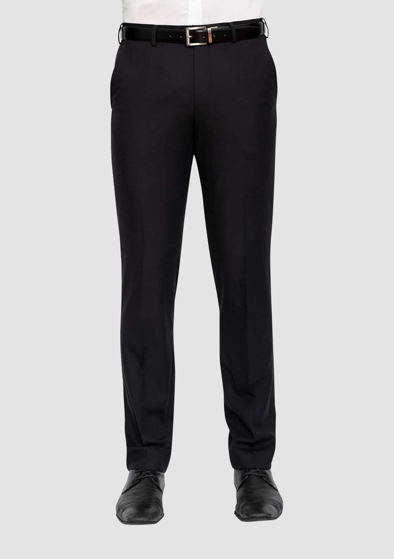 the front of the cambridge classic fit interceptor suit trouser in black FMG100