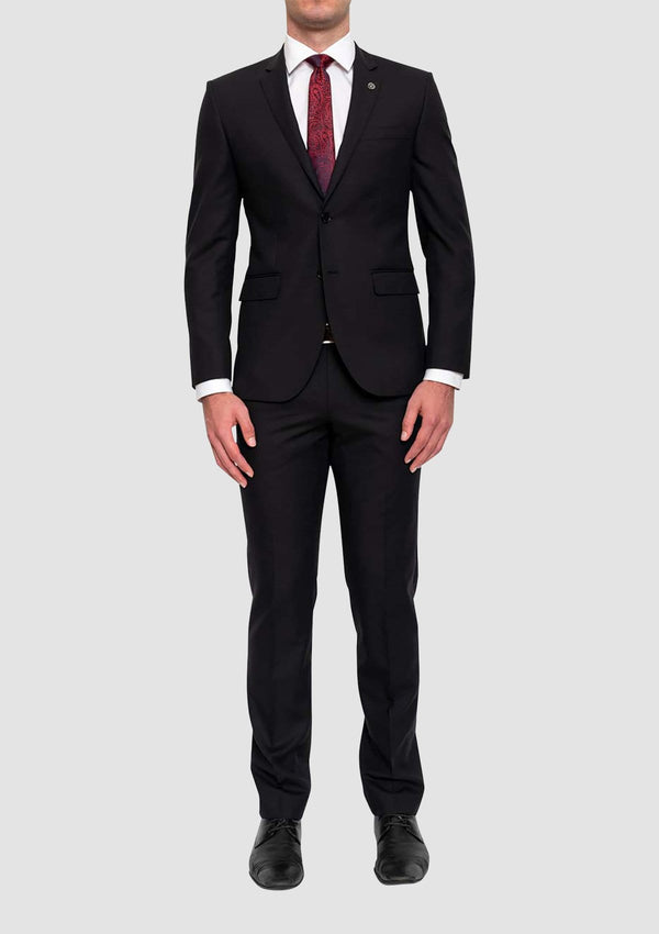 the cambridge classic fit morse suit in black FMG100