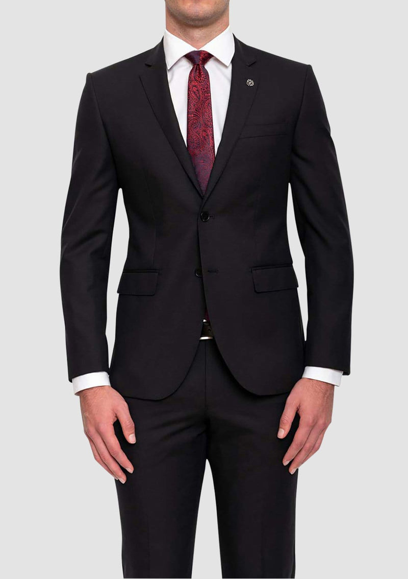 the cambridge classic fit morse suit jacket in black FMG100