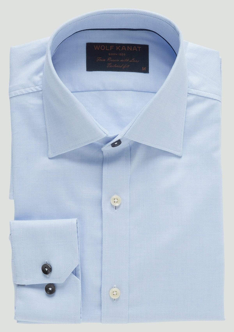 a folded view of the slim fit romanov business shirt by wolf kanat 9WKS921