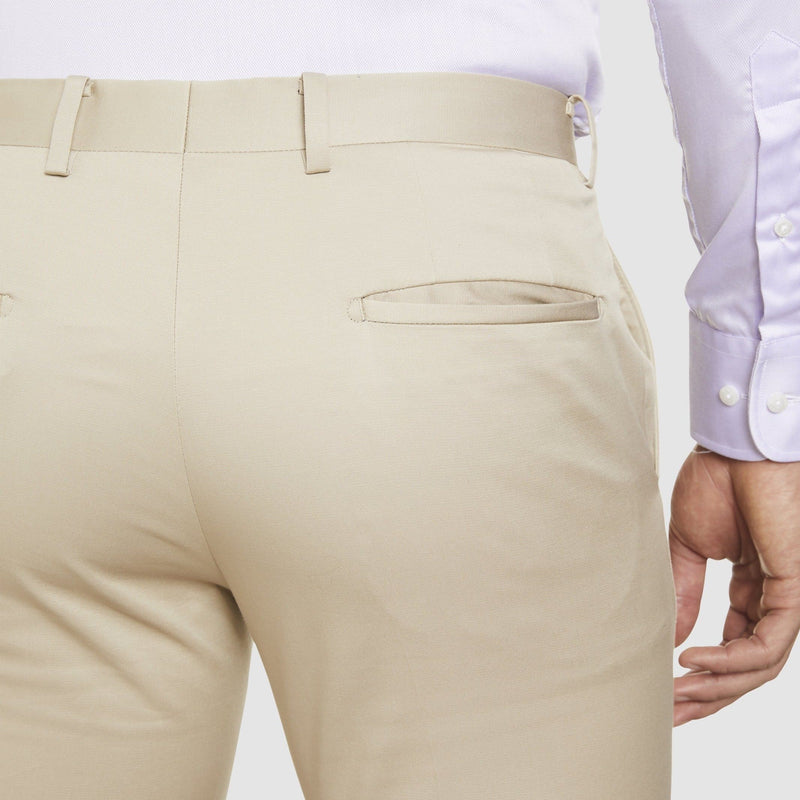 the Studio Italia slim fit chino in beige stone  cotton stretch  ST-376-81