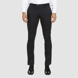 the Studio Italia slim fit chino in navy cotton stretch  ST-373-11