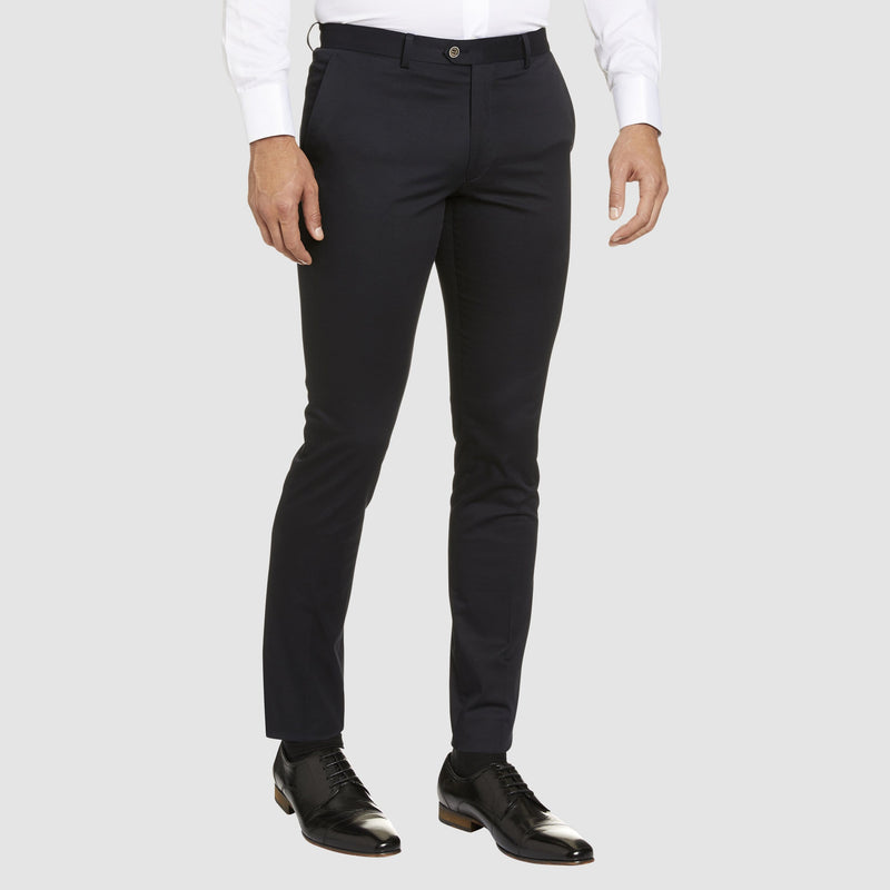 Studio Italia slim fit chino in navy cotton stretch