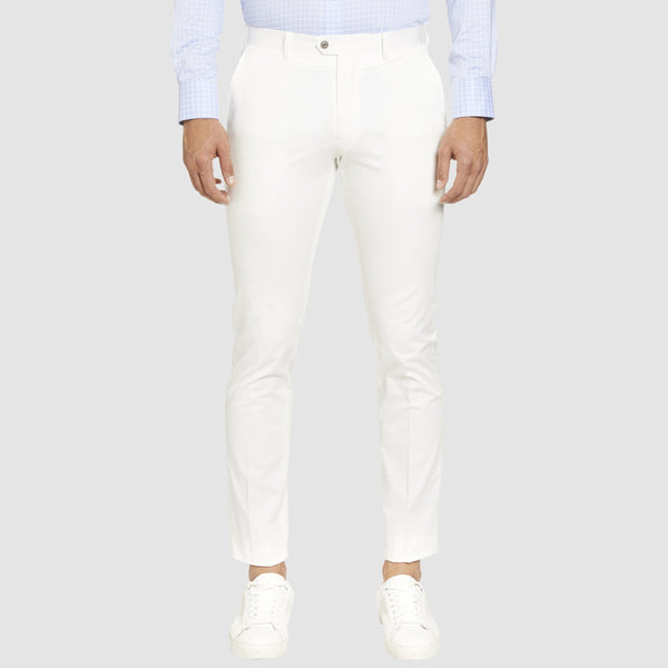 the Studio Italia slim fit chino in white ST-409-91