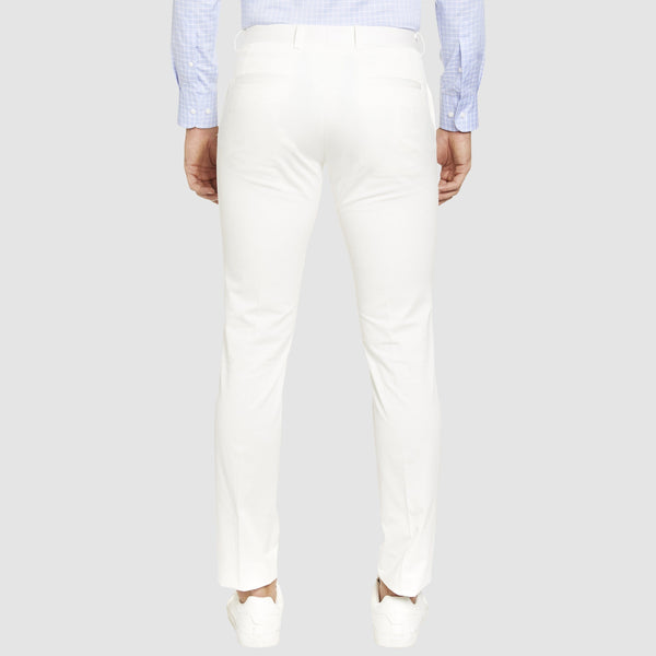 a back view of the Studio Italia slim fit chino in white ST-409-91