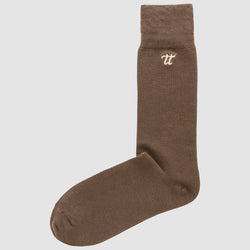 the Chusette Men's Warm Cotton Socks in Brown 4-WC-M-1