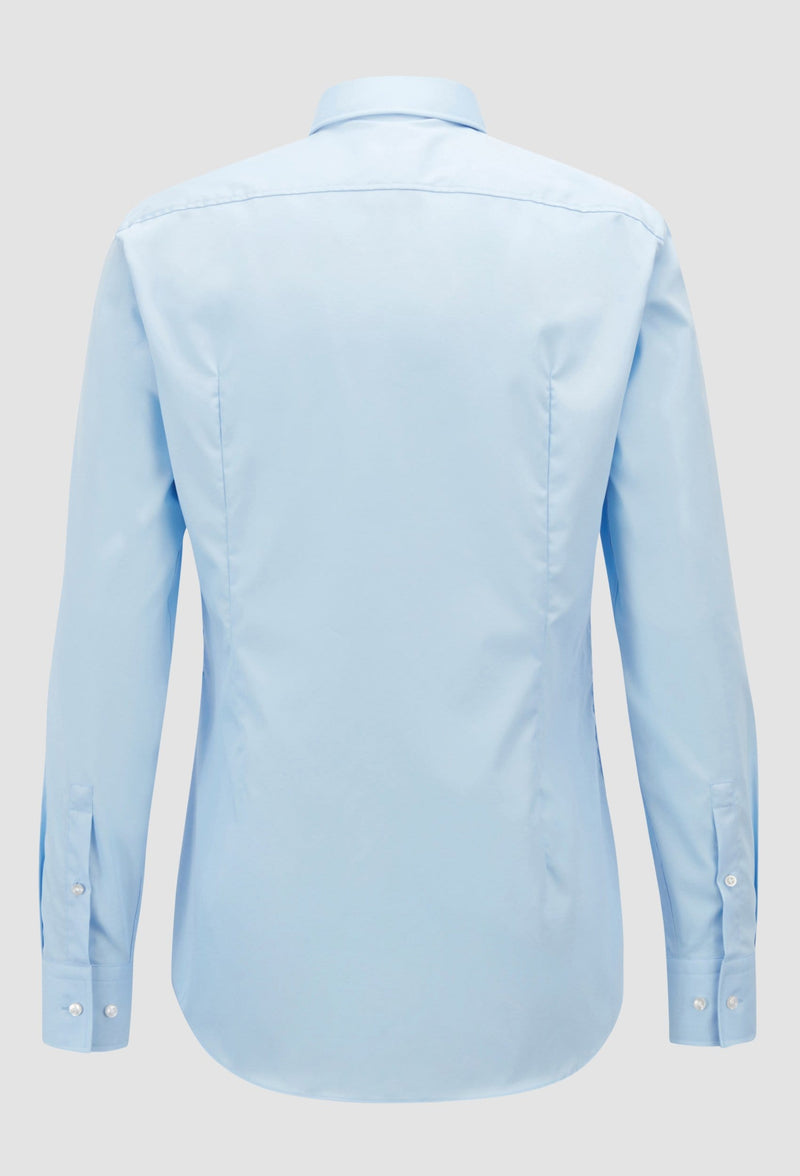 Hugo Boss slim fit jenno business shirt in blue cotton poplin