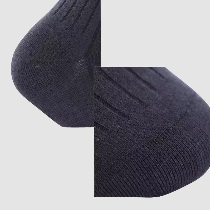 the chusette pure cotton sock in black details M-PC-M-1-2