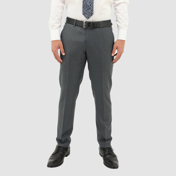daniel hechter slim fit shape suit trouser  in grey pure wool DH106