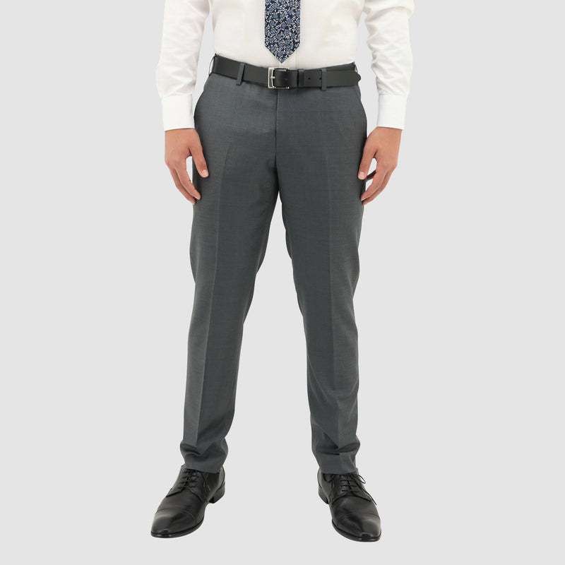 The matching trouser for the Daniel Hechter slim fit shape suit in grey pure wool DH106-04