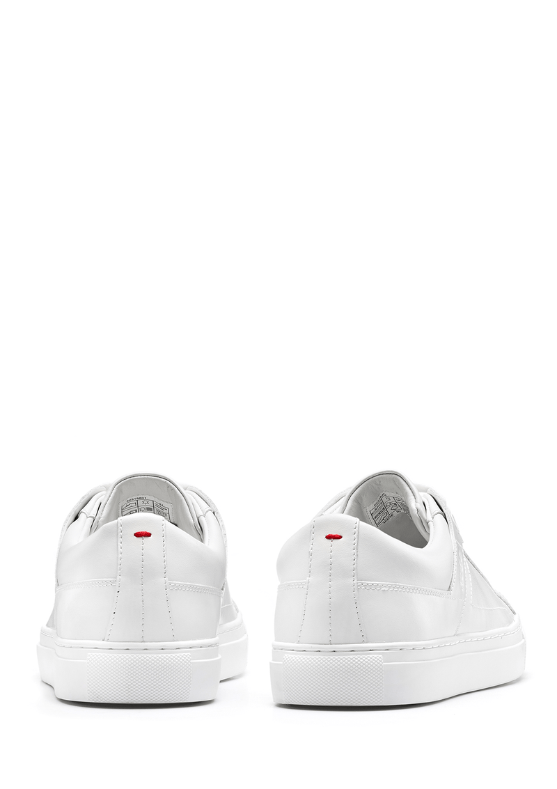 the back of the futurism tennis inspired mens casual trainier in white nappa leather 50315601 White