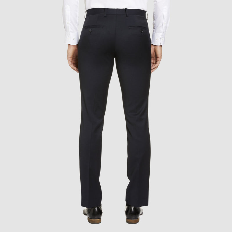 a back view of the studio italia T85 suit trouser in navy merino wool ST-362-11