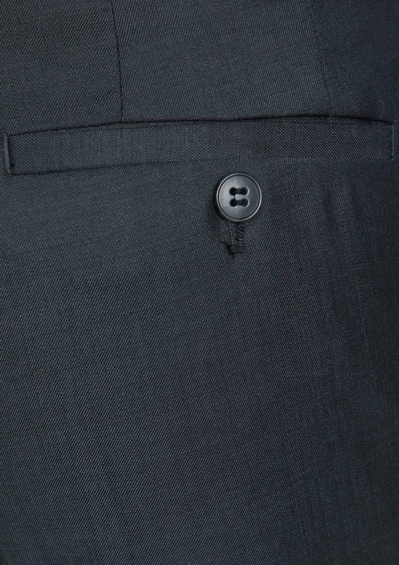 Gibson slim fit caper suit trouser in charcoal grey pure wool